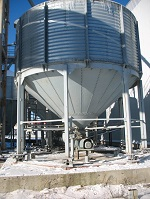 Automated system of corn weighing on elevators